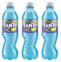 3 x FANTA SHOKATA Zero Elderberry & Lemon Flavor Soda Sparkling Drink 500ml