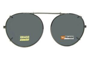 Semi Round Polarized Clip-on Sunglasses