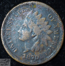 1870 Indian Head Penny, Cent, Very Fine Details, Buy 4 Get $5 Off, C5331