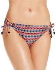 Jessica Simpson Bikini Bottom Sz XL Black Multi Side Tie Swim Pant SSFO15706