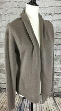 Barney's New York M Cardigan Sweater 100% Cashmere Taupe Gray Beige Greige COOP