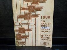 1988 CHEVROLET C/K PICKUP TRUCK ELECTRICAL DIAGNOSIS SERVICE MANUAL (G312)