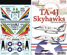 TA-4J Skyhawks: US Navy VA-45, VF-126 (1/48 decals, Superscale 481222)