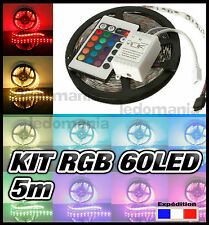 816M/54# Ruban LED RGB 60 LED/m  300 LED 5m + télécommande  STRIP LED