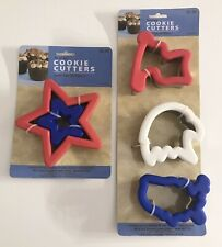 4th of July Sunny Side Up Bakery Metal and Silicone Patriotic Cookie Cutter Lot