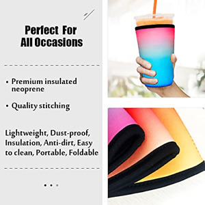 Iced Coffee Sleeve For Cold Coffee Cup - 3 Pack - Drink Sleeve For Ice Coffee