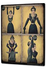 Blechschild XXL Fun Zirkus Stärkste Frau
