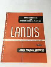 Landis Chaser Grinders Fixtures Machine No A 87 5 Brochure Advertisement