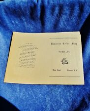 RANCOCAS COFFEE SHOP, Main Street, Rancocas, NJ Vintage Breakfast Menu, Not Used