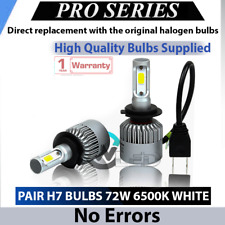 BMW 3 F30 F31 Canbus 2x H7 Car LED Headlight Low Beam 72W 6500K White Bulbs