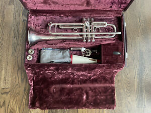 Benge Silver Trumpet with Case & Accessories