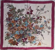 -JOLI   Foulard   soie  TBEG  vintage scarf  85 x 90 cm