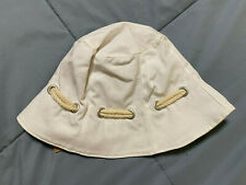 Lands End Kids Size Large White Bucket Hat NEW!