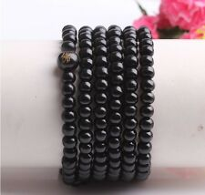 Black Tibetan Buddhist prayer beads  216 Sandal beads bracelet necklace pendant