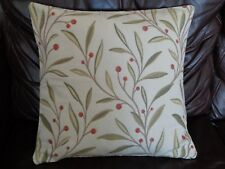 """18"""" CUSHION COVER MADE WITH JOHN LEWIS RED 'GUELDER BERRY' FABRIC -"""