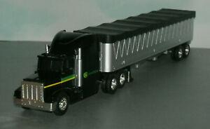 1/64 Scale John Deere Hauler Semi Truck Grain Trailer Diecast Model - Ertl 37382