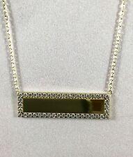 Halskette mit Anhänger Gold 585 Namensschild Mit Gravur Neu Kette Goldkette 14K