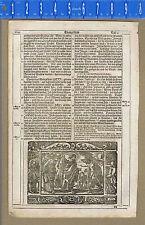 Gospel of John-Samaritan Woman at Well & Jesus Heals Boy-1600s Bible Leaf