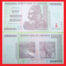 ZIMBABWE 50 TRILLION! BLOWOUT PRICE! 100% AUTHENTIC BANKNOTES! US SELLER!