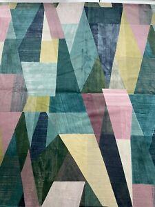 Harlequin Pythagorum Ink/Rose Quartz Printed Velvet 2m Piece
