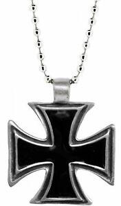 Eisernes Kreuz Halskette aus Metall Rock-Metal Punk NEU & OFFICIAL!