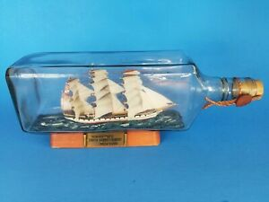 """Wavertree South Street Seaport Tall Ship In Bottle 10 3/4"""" Long Collectible"""
