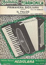 PRIMAVERA SICILIANA (G. Gerlan) - IL FALCO (Ado Rossi) # SPARTITO - Fisarmonica
