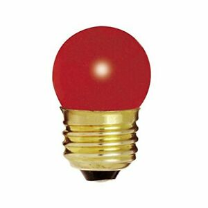 Incandescent CERAMIC RED BULB 120V 7.5W S11 Medium E26 Indicator Sign Dimmable