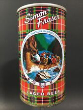 Simon Fraser Lager Vintage Straight Steel 12 oz Empty Pull Tab Beer Can Rare
