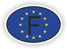 OVAL EUROPEAN UNION FLAG CON F Codice Paese Francia Adesivo Motocycle auto