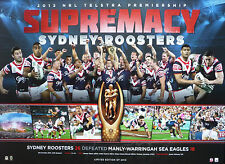 Sydney Roosters 2013 Premiers Limited Edition NRL Premiership Print Unframed