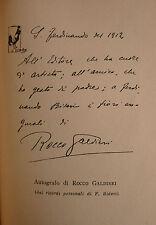 Poesia Rime Versi, Rocco Galdieri: Le Poesie 1953 Bideri prima edizione