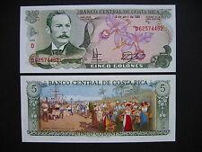 Costa rica 5 colones 3.4.1991 (p236e) UNC