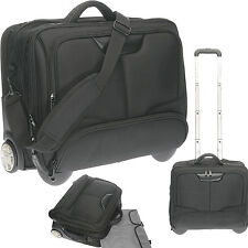 Trolley DERMATA BUSINESS XL Pilotentrolley Laptoptrolley Trolly 3456 SCHWARZ (G)