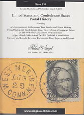 Siegel Sale 834, US and Confederate States Postal History, 2001, L5211