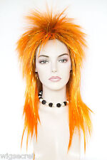 Spikey, Rocker, Shag Style with Highlights of Tinsel Fun Color Costume Wigs