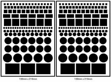 More details for 2 sets vinyl led light cover dims electronics 246 assorted sizes privacy camera