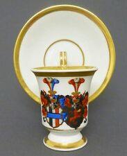 (K393) KPM Berlin Allianz-, Adels Wappen Tasse mit Volutenhenkel, um 1900