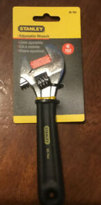 "Stanley Hand Tools 6"" Cushion Grip Adjustable Wrench Set"