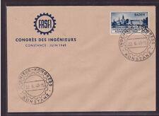 Französische Zone Baden 46 I FDC Ersttagsbrief Konstanz sehr sauber (21782)
