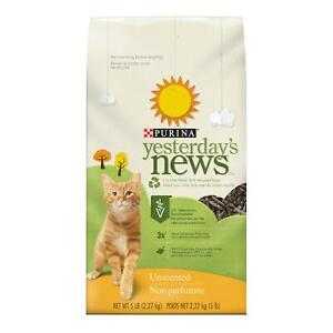 Purina Yesterday'S News Non Clumping Paper Cat Litter, Unscented Low Tracking Ca