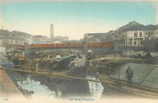 SINGAPORE BOAT QUAY GREAT OLD POSTCARD VIEW