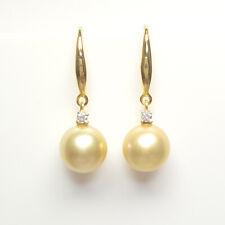 South Sea Pearl Earrings, Flawless 10.1mm Pearls, 18k gold hook, Natural Pearls