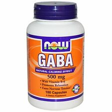 NF11 GABA, 500 mg, 100 Capsules Now Foods Dietary Supplement Tension
