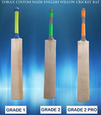 CUSTOM HANDMADE 100% Natural A+ grade 5-10 grains ENGLISH WILLOW CRICKET BAT