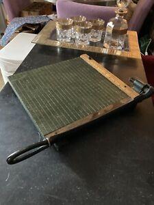 ⭐ Vintage Monarch 5212 Milton Bradley Guillotine Paper Cutter Slicer 12x12 Wood