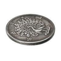 Copper 24mm Magic Handmade Commemorative Coin Myanmar Peacock Pattern Coin