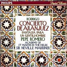 Rodrigo: Concierto de Aranjuez; Fantas¡a para un Gentilhombre (CD, May-1994,...