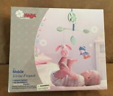 Haba Mobile Baby Touch Feel Toys Organic removable Uppsala crib bunny musical