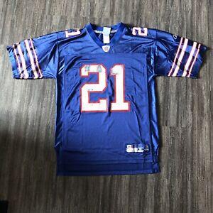 Vintage Buffalo Bills Reebok Jersey #21 Blank Willis McGahee Blue 2005 Medium